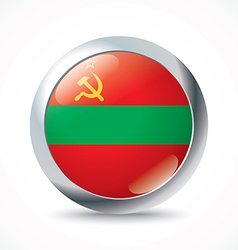 Transnistria flag button vector image