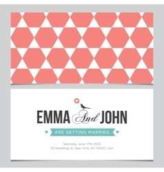 wedding card pattern 04 vector image vector image