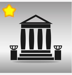 bank building black icon button logo symbol vector image vector image