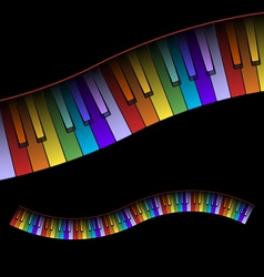 Curved Piano Keyboard Colors vector image