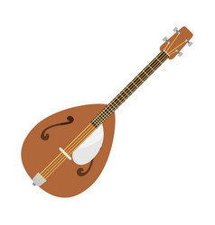 dombra guitar icon stringed musical instrument vector image