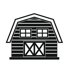 farm house in black simple style isolated on white vector image