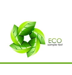 Green leaves Eco concept vector image vector image