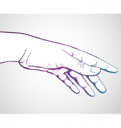 hand reaching vector image vector image