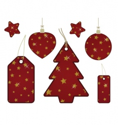 red and gold gift tags vector image