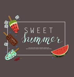 summer ice-cream menu vector image