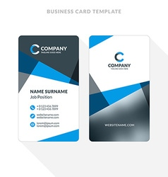 Vertical double sided business card template blue vector image vertical double sided business card template blue vector image vector image cheaphphosting Choice Image