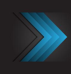 abstract blue arrow steel direction on dark grey vector image