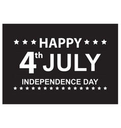 america usa happy independence day poster vector image