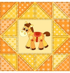 Application horse seamless pattern vector