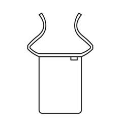 Apron iconline icon isolated vector