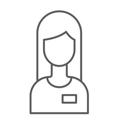 assistance thin line icon service and help vector image