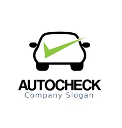 Auto Car Check Design vector image