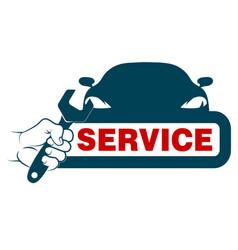 Auto service design vector
