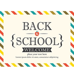 Back to School postcard background template vector