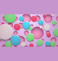 background holes and circles with shadows vector image