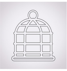 Bird cage icon vector