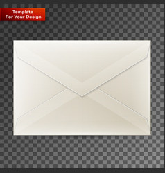 blank envelope isolated on transparent background vector image