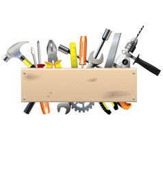 Board with Tools vector