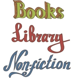 Books Library Non-fiction vector