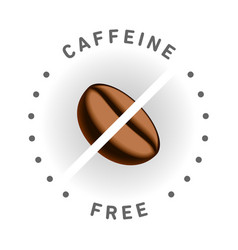 caffeine free logo icon design badge vector image