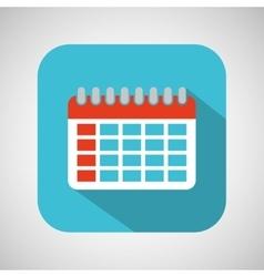 Calendar cartoon date day shadow and blue vector