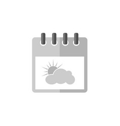 calendar with clouds symbol icon vector image