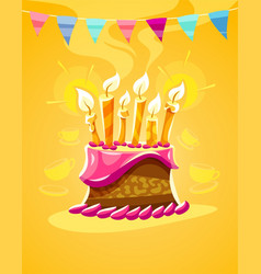 chocolate birthday cake vector image