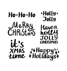 christmas quotes set vector image