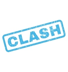 Clash Rubber Stamp vector