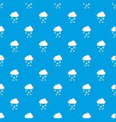 Cloud and hail pattern seamless blue vector