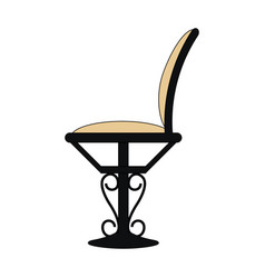 Color image cartoon elegant dining chair vector