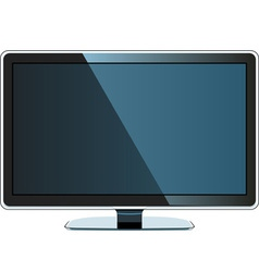 coloured flat monitor vector image