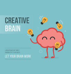 creative brain eps 10 vector image