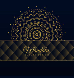 Dark luxury mandala pattern background vector