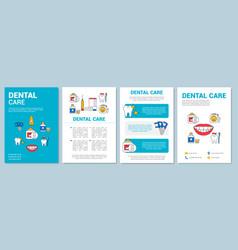 Dental care brochure template layout vector