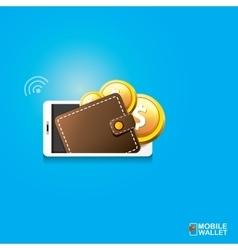 Digital mobile wallet concept icon vector
