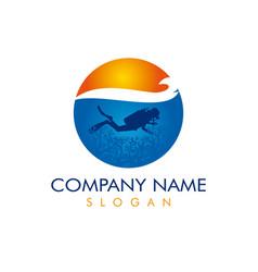 Diver logotype vector
