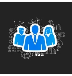 Drawing business formulas business people vector