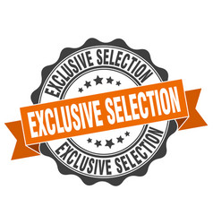 Exclusive selection stamp sign seal vector