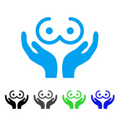 Female tits care hands icon vector
