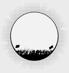 Festival border silhouette vector