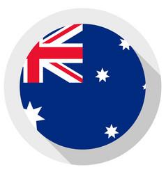 Flag australia round shape icon on white vector