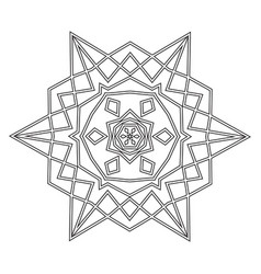 floral straight lined mandala trendy tattoo vector image