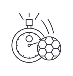 Football timepiece icon linear isolated vector