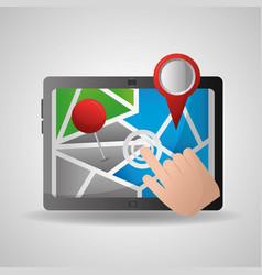 Gps navigation application vector