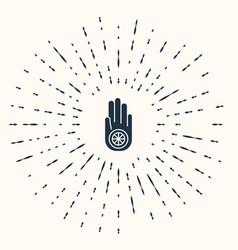 grey symbol jainism or jain dharma icon vector image