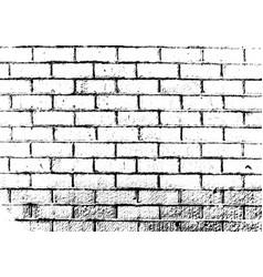 Grunge brick wall texture vector