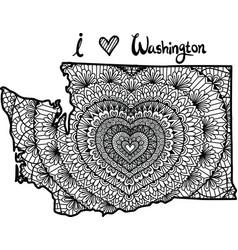 Heart in washington state vector