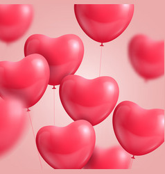 hearts balloon realistic vector image